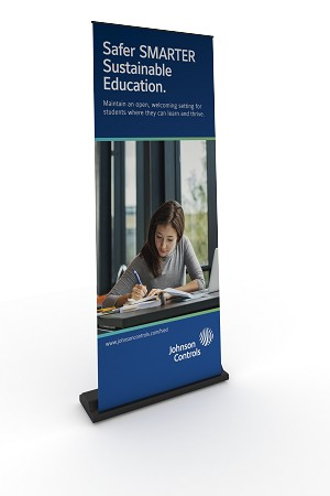 Higher Ed Small Banner Stand